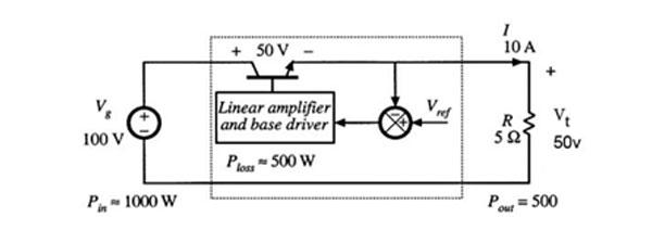مدار منبع تغذیه با رگلاتور خطی